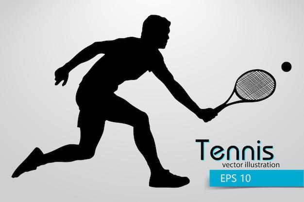 Силуэт теннисиста