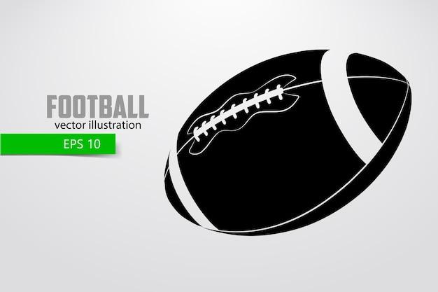 アメリカンフットボールのボールのシルエット