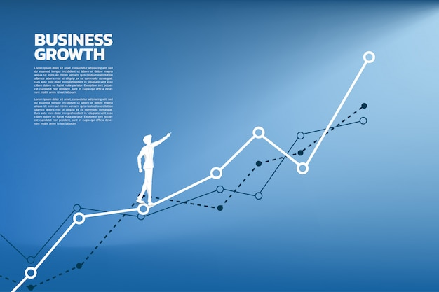 Силуэт бизнесмена указывают на высшую графа.