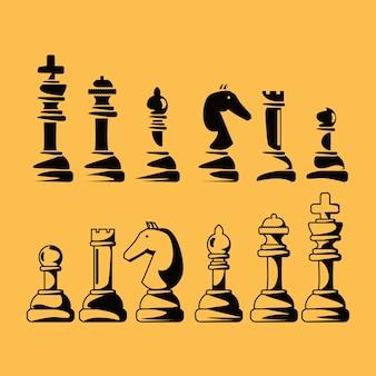 체스 조각의 실루엣