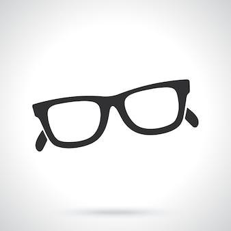 レトロなサングラスの角縁眼鏡のシルエットベクトル図