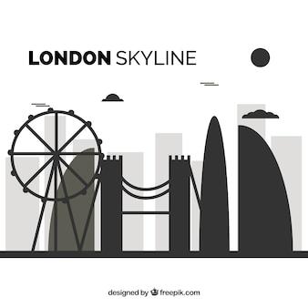 Силуэт горизонта лондона