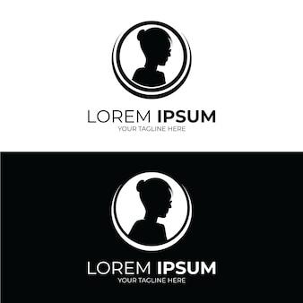 女性のロゴデザインのインスピレーションのシルエット
