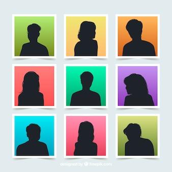 Silhouette pack of avatars