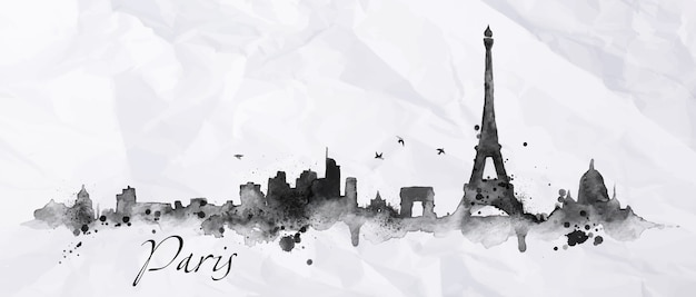 Silhouette paris city