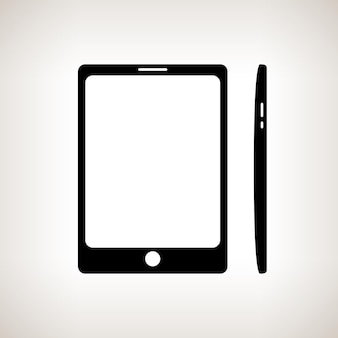 Silhouette phone, gadget on a light background , black and white  vector illustration