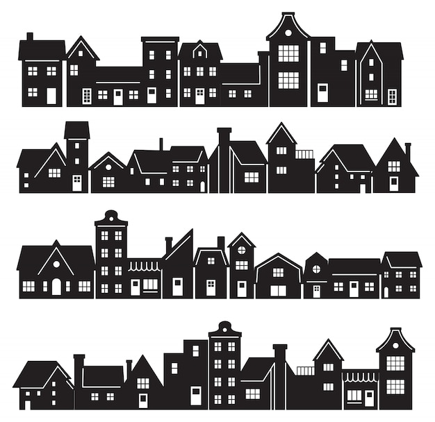Silhouette of residential building