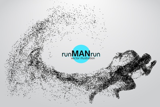 Silhouette of a running man illustration