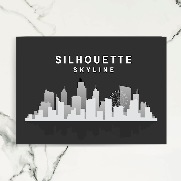 Silhouette skyline illustration