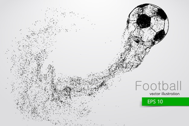 Silhouette of a soccer ball from particles
