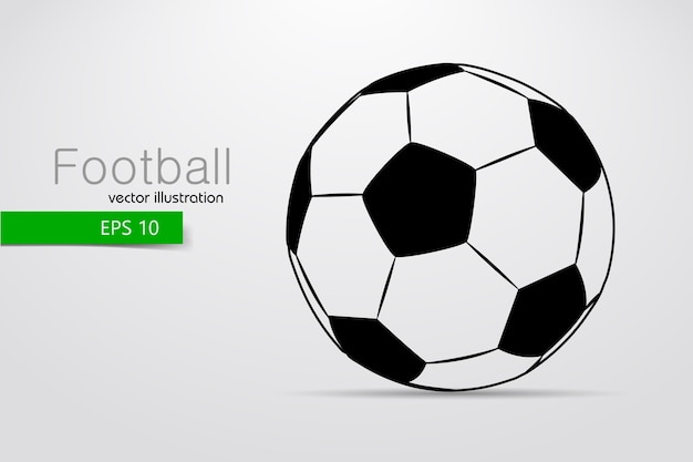 Silhouette of a soccer ball illustration