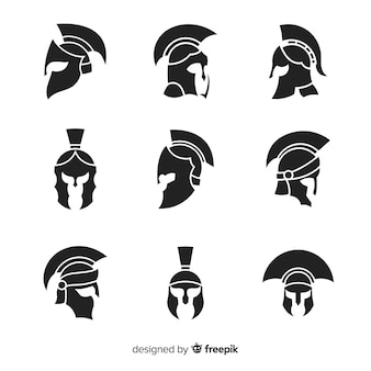 Silhouette spartan helmet collection