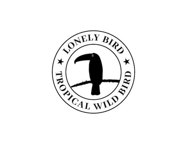 Silhouette toucan bird logo design