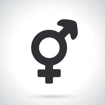 Silhouette of transgender or hermaphrodite symbol gender pictogram vector illustration
