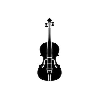 Silhouette of violin viola cello fiddle contrabass double bass