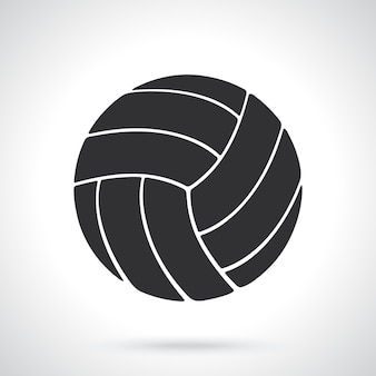 Silhouette of volleyball ball sports equipment vector illustration