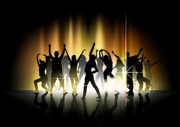 금빛 위에 실루엣 댄서