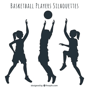 Sagome di giocatori di basket pacco