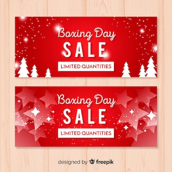 Silhouettes boxing day template banner