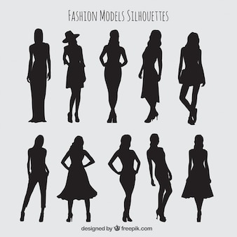 Silhouettes collection of elegant models