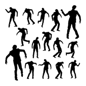 Silhouettes of dancing man