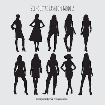 Silhouettes fashion models pack