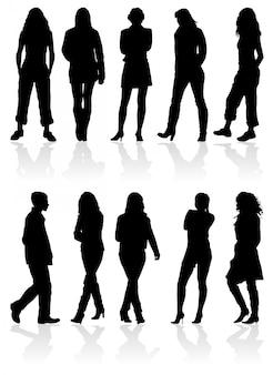 シルエットの男性と女性