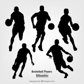 Силуэты баскетболистов