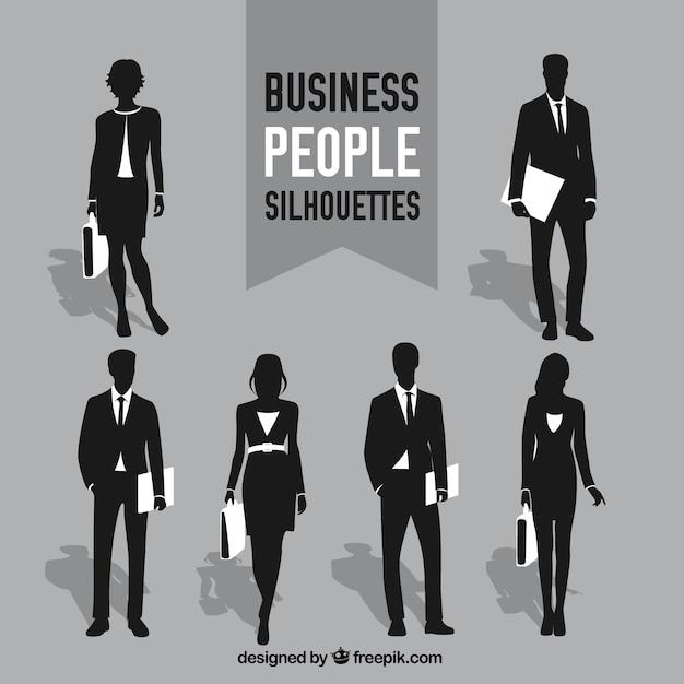 Силуэты деловых людей