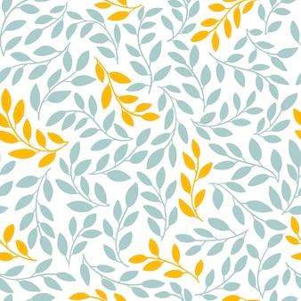 同一の葉のシルエットはシームレスなパターンを残します。