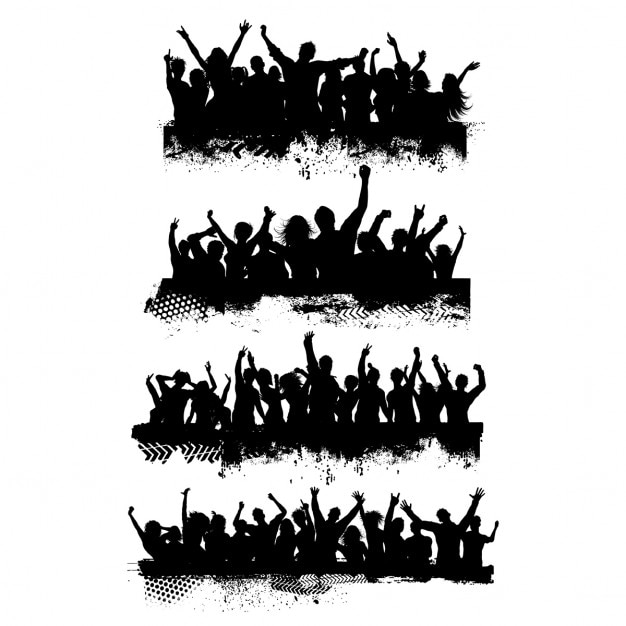 crowd vectors photos and psd files free download rh freepik com crowd vector free download vector crowd