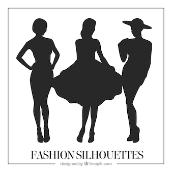 Silhouettes of sophisticated models pack