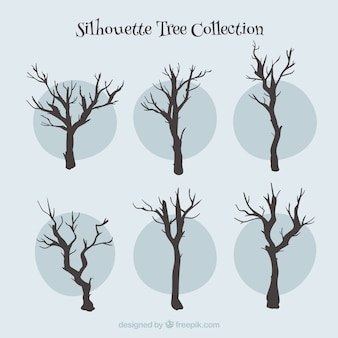Silhouettes trees collection