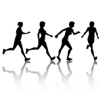 Sagome di jogging femminili
