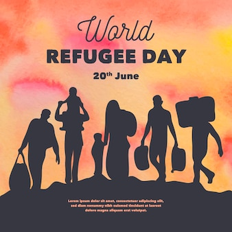 Silhouettes world refugee day