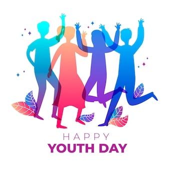 Силуэты день молодежи концепция
