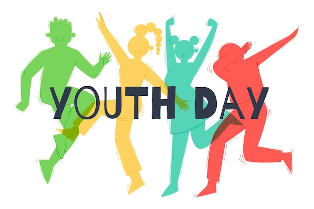 Silhouettes youth day concept
