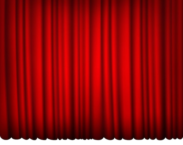 Silk red curtain.