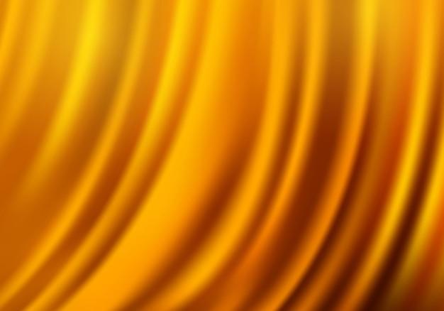 Шелковая текстура для фона желтая драпировка фона Premium векторы