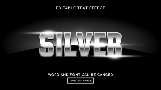 Серебряный шаблон 3d редактируемый текстовый эффект