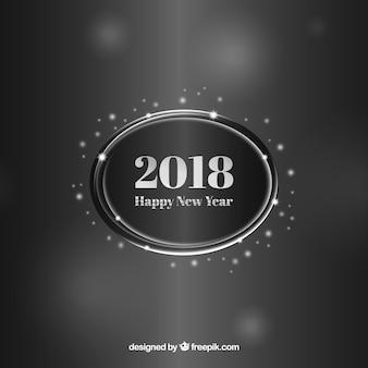 Серебряный и черный новый год 2018 фон