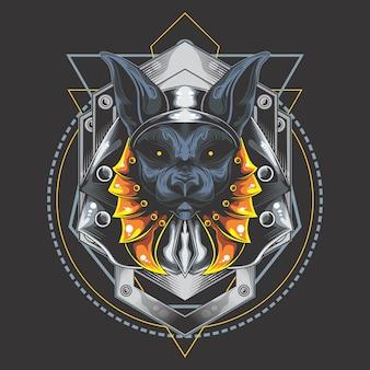 Silver armor anubis