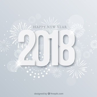 Silver background happy new year