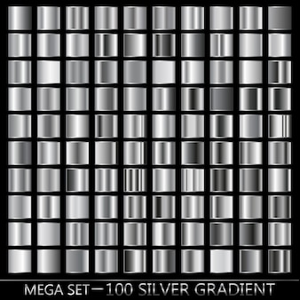 Silver, black, white gradient in metal texture