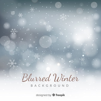 Silver blurred lights winter background