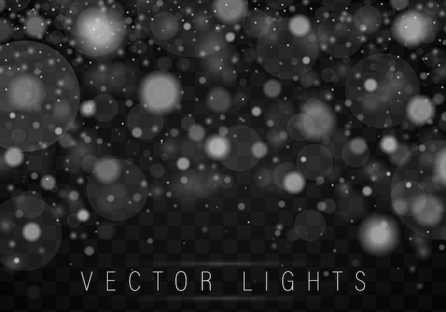 Silver bokeh poster with gradient mesh.