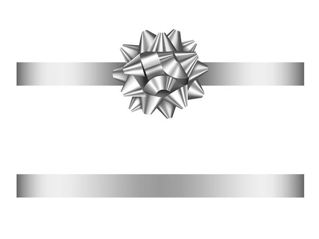 Серебряный бант и лента