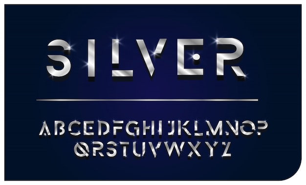 Буква шрифта silver bright