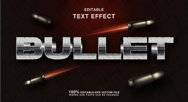 Silver bullet text style effect