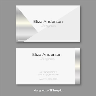 Silver business card